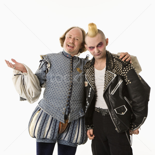 Stock photo: Shakespeare and goth man.