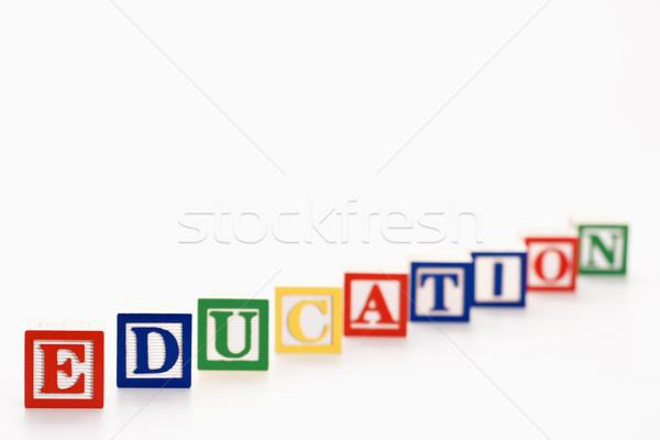 Educativo bloques alfabeto juguete bloques de construcción ortografía Foto stock © iofoto