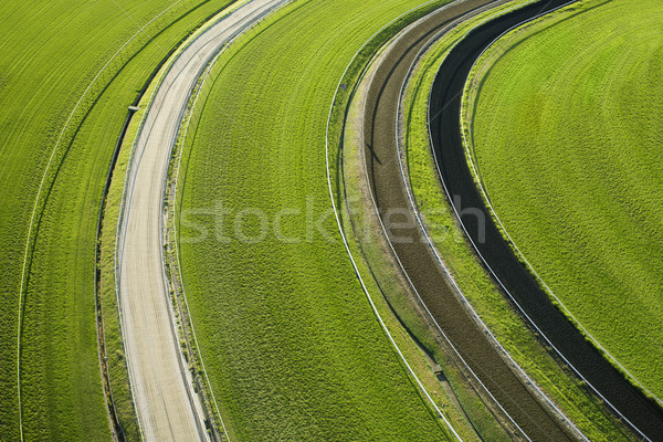 Aerial View of Cropland Stock photo © iofoto