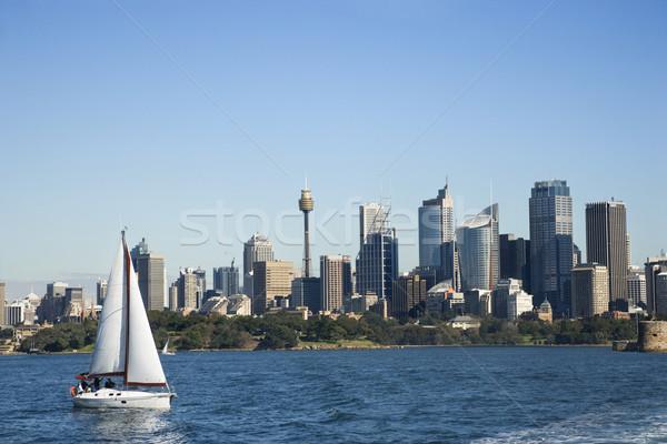 Paisaje urbano Sydney Australia rascacielos velero puerto Foto stock © iofoto