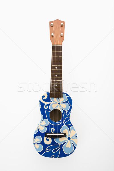 Ukulele with blue flowers. Stock photo © iofoto