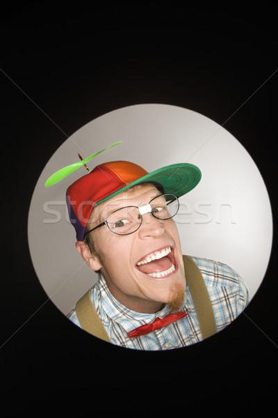 Man wearing propellor hat. Stock photo © iofoto