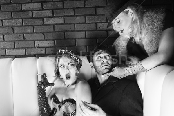 Man and two women. Stock photo © iofoto