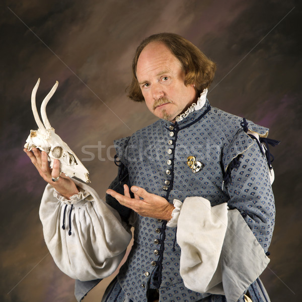 Shakespeare with deer skull. Stock photo © iofoto