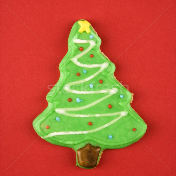 Albero di natale cookie zucchero decorativo ciliegina albero Foto d'archivio © iofoto