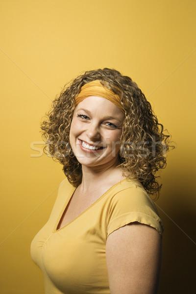 Mujer sonriente retrato sonriendo caucásico mujer Foto stock © iofoto