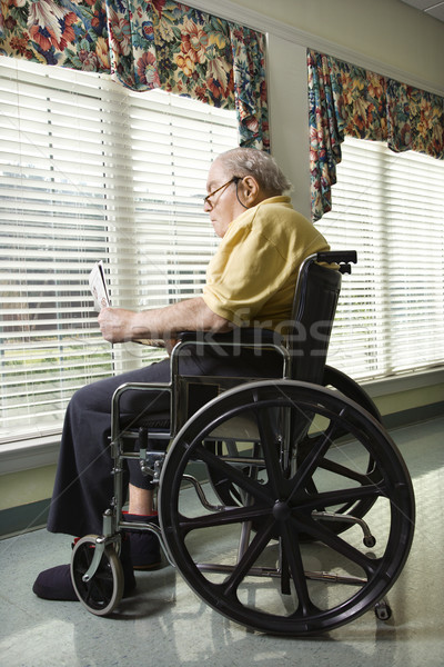 Stock photo: Elderly Man in Wheelchair