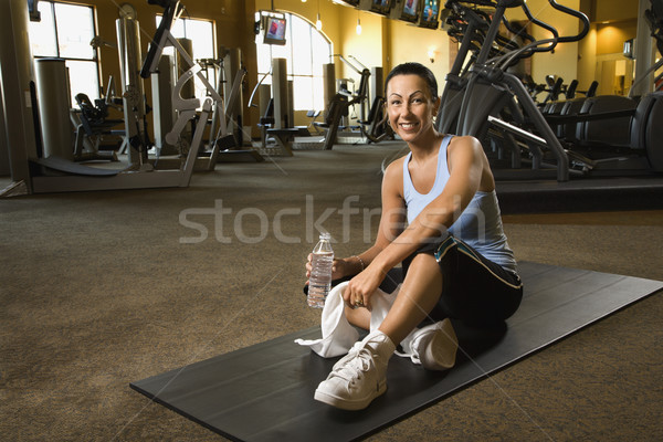 Woman at fitness gym. Stock photo © iofoto