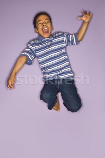 Aranyos fiú ugrik portré fiatal srác boldog Stock fotó © iofoto