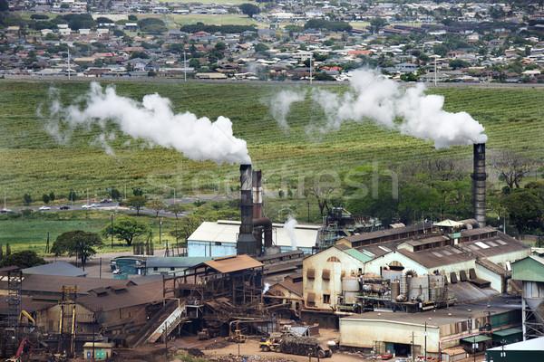 Factory smokestacks. Stock photo © iofoto