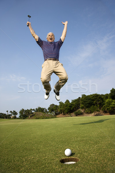 Man playing golf. Stock photo © iofoto