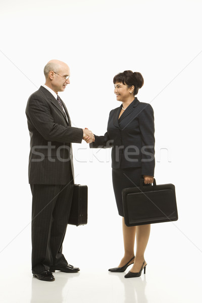 Businesspeople shaking hands. Stock photo © iofoto