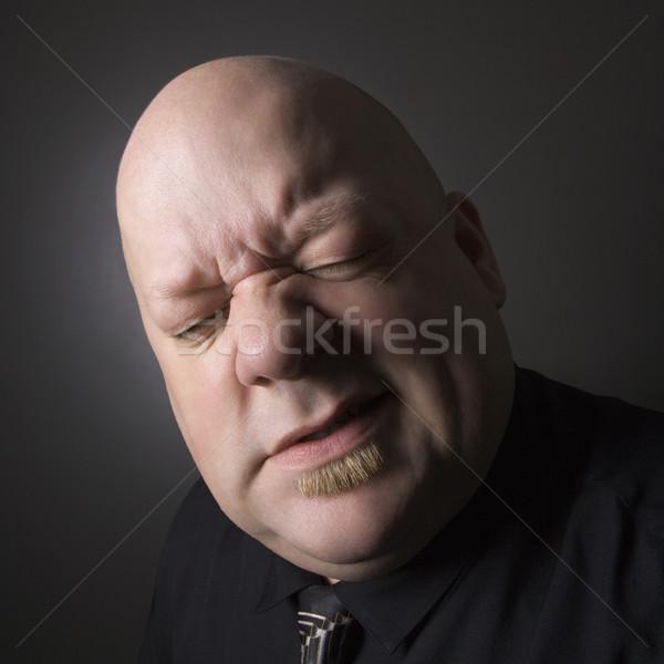 Man facial expression. Stock photo © iofoto