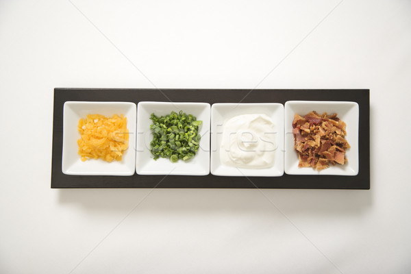 Side dish with toppings. Stock photo © iofoto