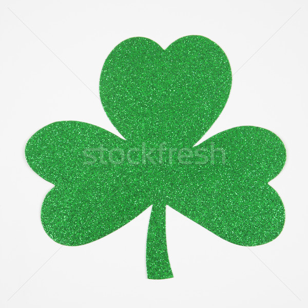 Green glitter shamrock. Stock photo © iofoto