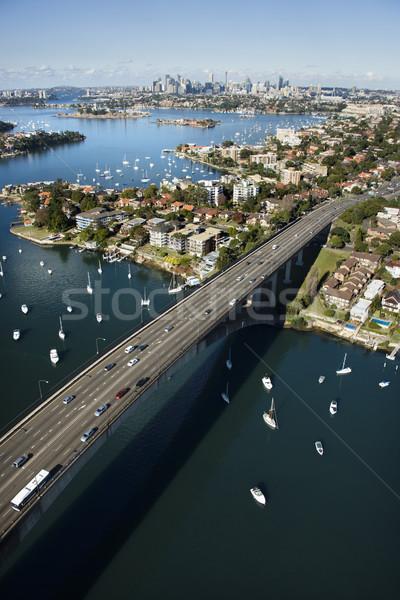 Puente Sydney Australia carretera barcos Foto stock © iofoto