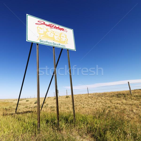 Güney Dakota yol işareti Rushmore Dağı grafik kırsal alan Stok fotoğraf © iofoto