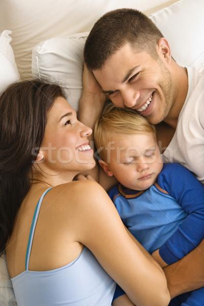Família caucasiano adulto pais criança Foto stock © iofoto