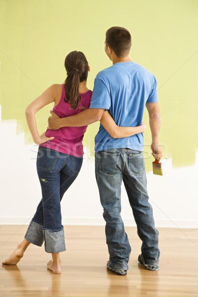 Couple admiring home. Stock photo © iofoto