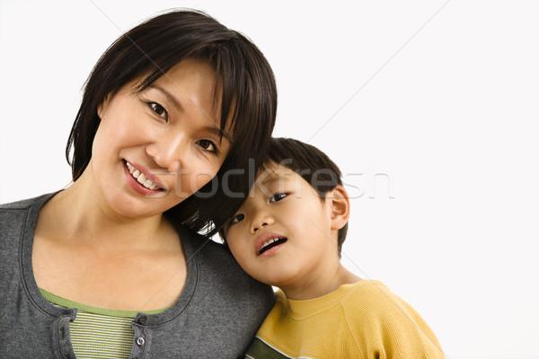 Madre nino retrato Asia jóvenes hijo Foto stock © iofoto
