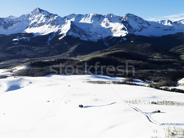 Snowy Colorado mountain landscape. Stock photo © iofoto