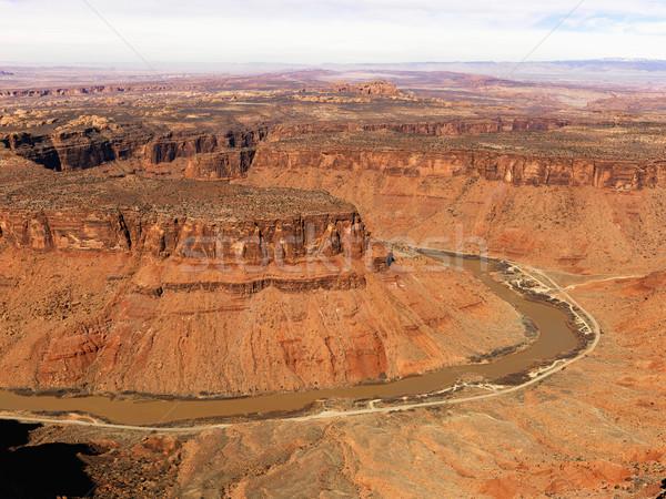 River Through a Craggy Landscape Stock photo © iofoto