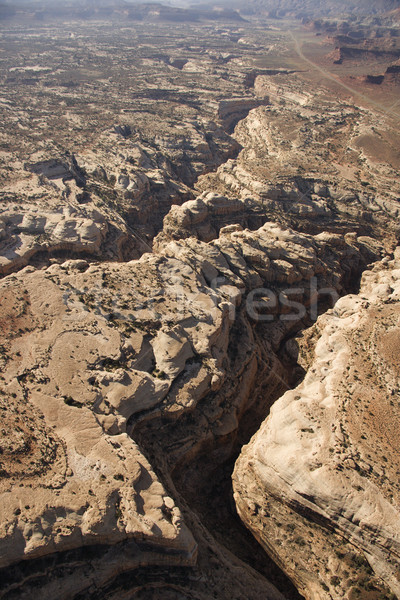 Colorado plateau antenne zuidwest woestijn canyon Stockfoto © iofoto