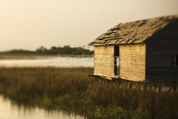 Building in wetland marsh. Stock photo © iofoto
