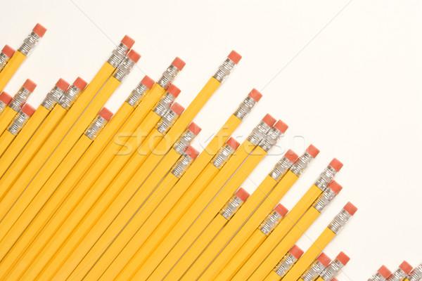 Diyagonal kalemler dengesiz silgi iş Stok fotoğraf © iofoto