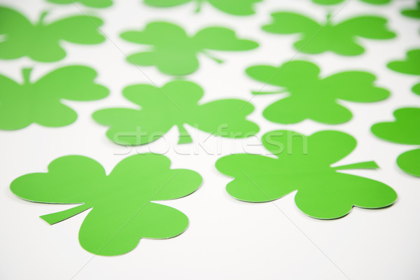 Verde papel grupo trébol color trébol Foto stock © iofoto