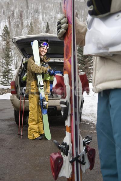 Couple going skiing. Stock photo © iofoto