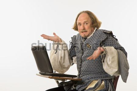 Shakespeare with computer. Stock photo © iofoto
