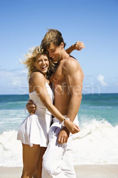 Happy smiling couple. Stock photo © iofoto