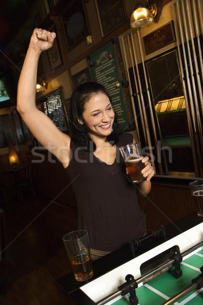 女性 ナイトライフ 小さな 白人 女性の笑顔 ストックフォト © iofoto