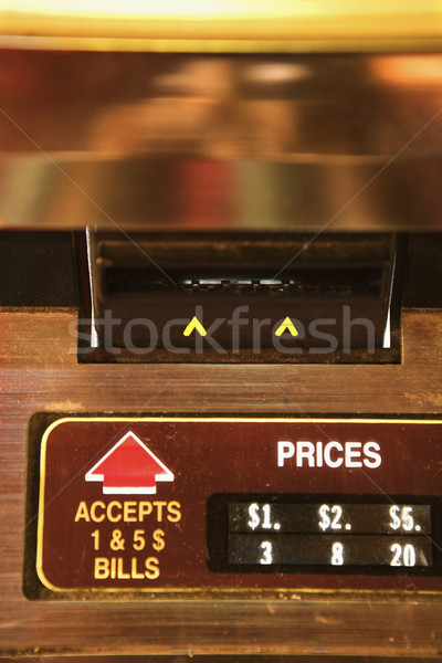 Jukebox pay slot. Stock photo © iofoto