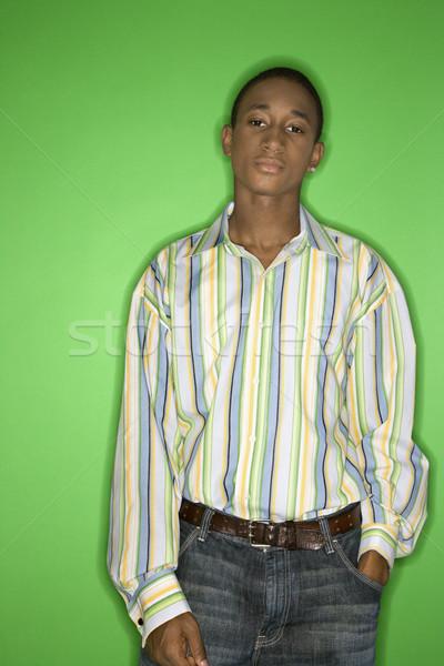 Teenage boy portrait. Stock photo © iofoto