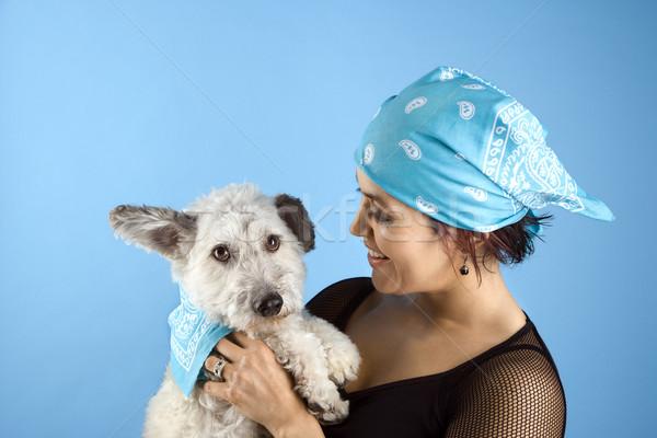 Nő kutya visel spanyol tart kicsi Stock fotó © iofoto