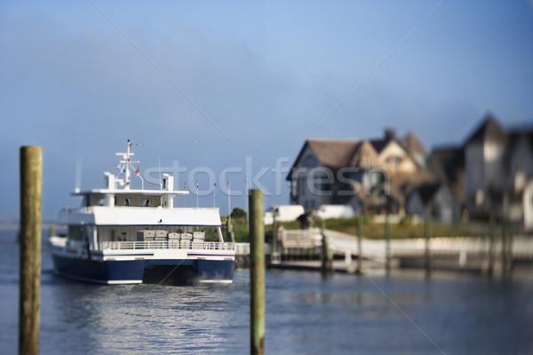 Pont boot kanaal kaal hoofd eiland Stockfoto © iofoto