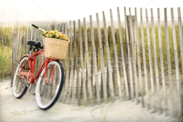 Bike at beach. Stock photo © iofoto