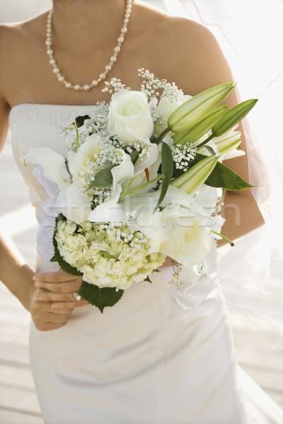 Сток-фото: невеста · букет · кавказский · букет · любви