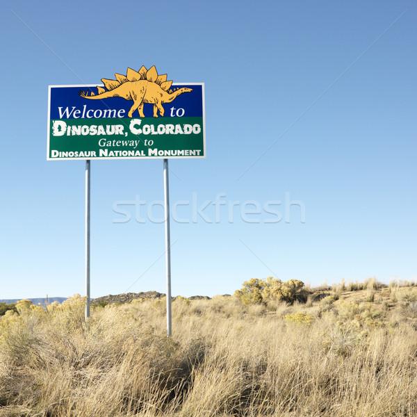 Welcome sign Dinosaur, Colorado. Stock photo © iofoto