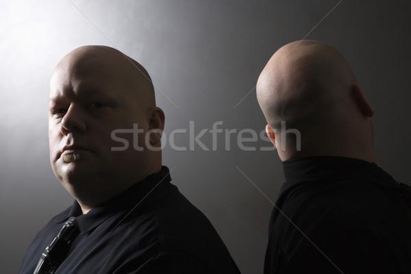 Iker férfiak hát kaukázusi felnőtt kopasz Stock fotó © iofoto