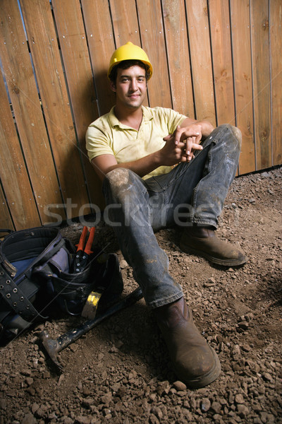 Resting Construction Worker Stock photo © iofoto