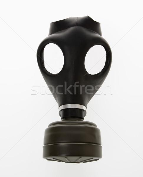 Gaz maskesi siyah güvenlik maske renk giyim Stok fotoğraf © iofoto