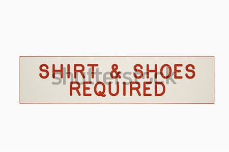 Shirt and shoes required. Stock photo © iofoto