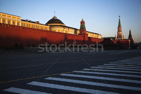 Buiten Kremlin muren Moskou Rusland horizontaal Stockfoto © iofoto