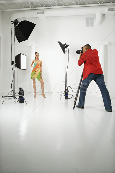 Homem mulher jovem feminino caucasiano Foto stock © iofoto