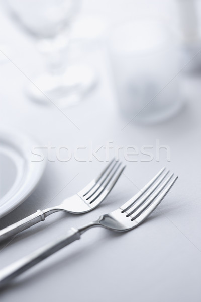 Forks on Dining Table Stock photo © iofoto