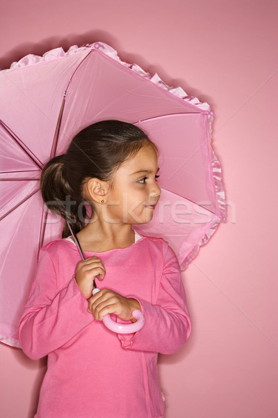 Női lány esernyő spanyol szín Stock fotó © iofoto