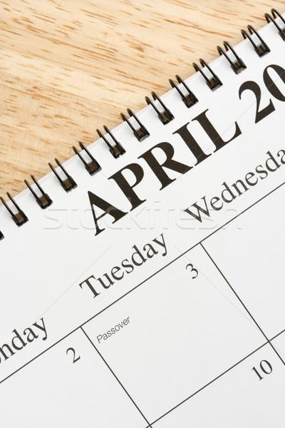 April on calendar. Stock photo © iofoto